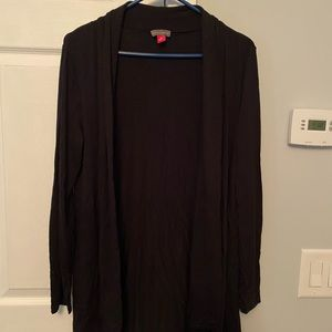 Vince Camuto open front sweater, black, EUC.